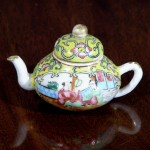 Antique Miniature Chinese Export Porcelain Tea Pot, Ca. 1860