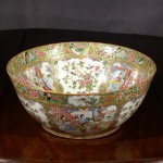 Large Antique Chinese Export Porcelain Punch Bowl, Ca. 1840