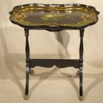 Papier-Mâché  Painted and Gilt Tray Signed B. Walton & Co.