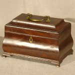English Bombay Form Mahogany Tea Caddy, Ca. 1750