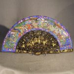 Chinese Mandarin Painted and Lacquered Fan