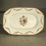 Chinese Export Armorial Porcelain Small Platter, Ca. 1780