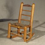 Miniature Antique Ladder Back Rocking Chair