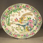 Chinese Export Famille Rose Porcelain Platter, Ca. 1840