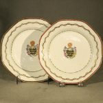 Pair of Chinese Export Armorial Plates, Ca. 1780