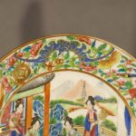 Pair of Chinese Mandarin Porcelain Plates, Ca. 1840