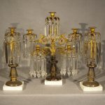 Mid 19th Century Lustre or Girondole Set,