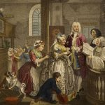William Hogarth, The Rake's Progress plate 5, The Marriage