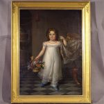 Classical Portrait Of A Young Girl In A White Dress, Ca. 1825