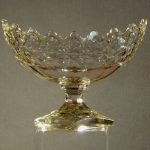 Large Early Anglo/Irish Type Cut Glass Pedestal Bowl