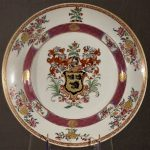Cruikshank Armorial on Early Samson Chinese Style Deep Dish