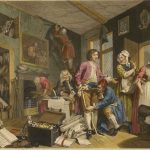 William Hogarth, A Rake's Progress plate 1, The Heir