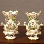 Pair of Chelsea (attrib.) 18th Century Frill Vases