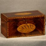 English Regency Inlaid Mahogany Tea Caddy