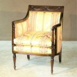 Phyfe Classical Style Upholstered Arm Chair
