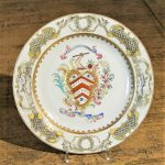 Pair Chinese Export Armorial Plates, 18th Century