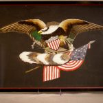 Patriotic American Feather Art Picture