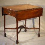 George III Mahogany Small Pembroke Table