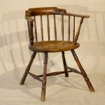 Windsor Low Back Arm Chair, English, 18th Century