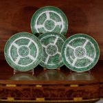 Chinese Export Porcelain Green Fitzhugh Deep Dishes