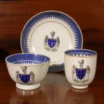 Chinese  Export Porcelain Armorial Trio Cups and Saucer