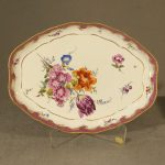 Meissen Floral Decorated Tray, Ca. 1760