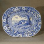Staffordshire Hunting Scene Well And Tree Platter, C