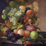 Charles Baum Still Life Fruit Painting, Ca.1865