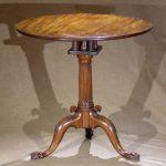 MahoganyTea Table, Tip and Turn, Geo. III Ca. 1760