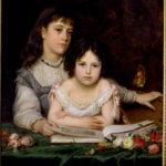 Michele Gordigiani, Portrait of Sisters Reading, 1875