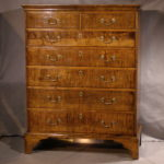 New England Tiger Maple Tall Chest, Ca. 1770