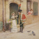 Jules Girardet, Pair of Watercolors, Ca. 1890