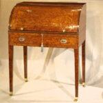 George III Thuya Cylinder Front Desk, Ca. 1790