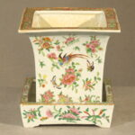 Chinese Famille Rose Porcelain Planter, Ca. 1860