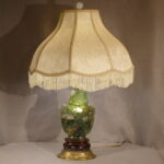 Green Quartz Oriental Lamp, Ca. 1900
