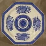 Chinese Export Fitzhugh Octagonal Platter, Ca. 1820