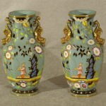 English Ironstone Vases, Ca. 1840